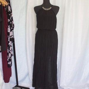As You Wish Maxi Dress  - Black Size Large